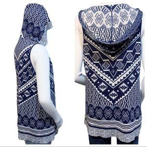 Boho Sweater Vest Open Front Cardigan